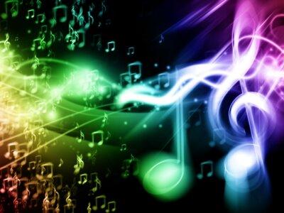 Plakát Barevná hudba na pozadí