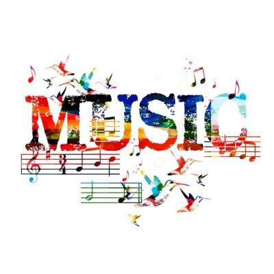 Plakát Barevná hudba pozadí