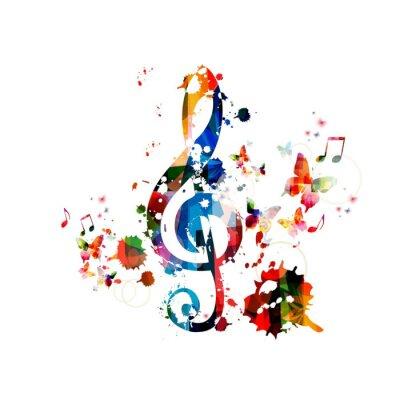 Plakát Barevné hudby na pozadí