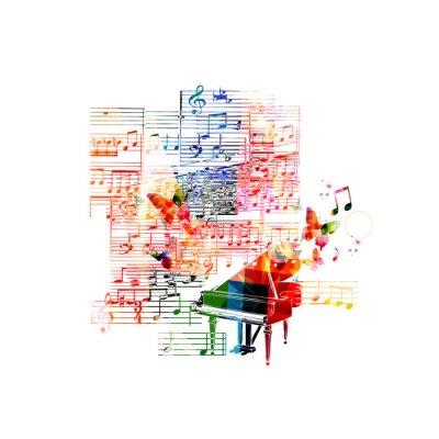 Plakát Barevné Piano design