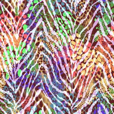Plakát barevné zebra textury na místech ~ bezproblémové pozadí