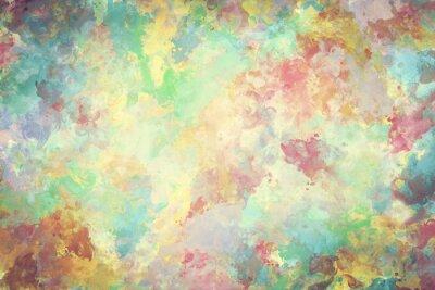 Plakát Barevný akvarel barvy na plátně. Super vysoké rozlišení a kvalitní zázemí