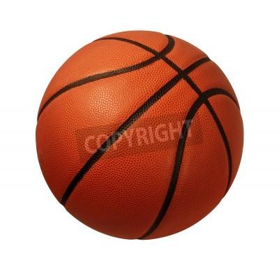 Plakát Baskeball na bílém pozadí jako sportovní a fitness symbolem týmu liesure činnost hrát s kožený míč driblování a předávání v turnajích v oblasti hospodářské soutěže