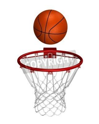 Plakát Basket ball over the ring