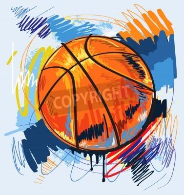 Plakát basketbal barevný design pozadí