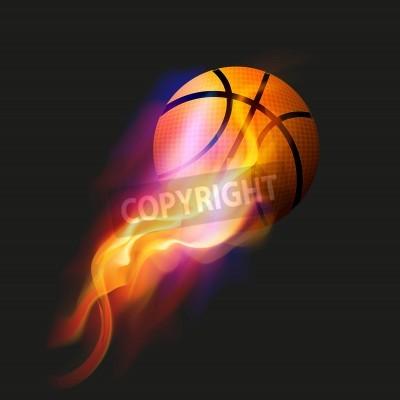 Plakát Basketbal Fireball