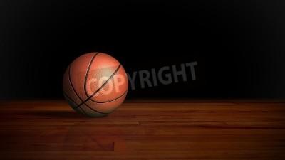 Plakát basketbal na dřevěné podlahy grafickým pozadím