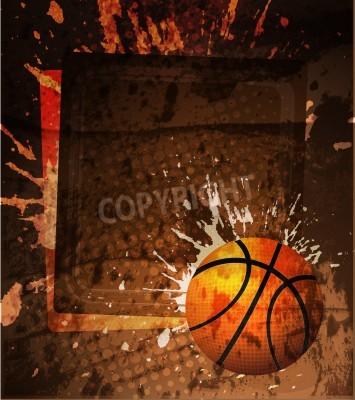 Plakát Basketbal reklamní plakát. vektorové ilustrace