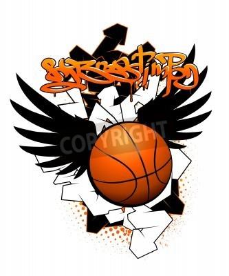 Plakát Basketball graffiti image