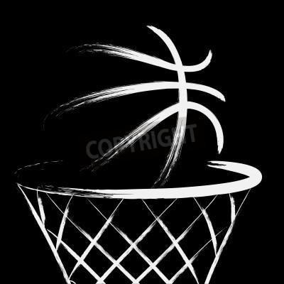 Plakát Basketball, vector