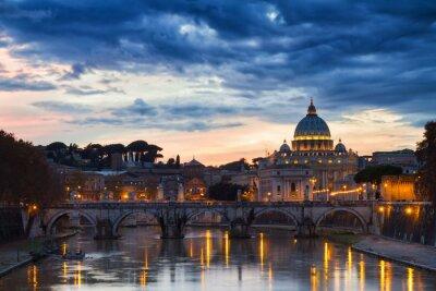 Plakát Bazilika svatého Petra za soumraku