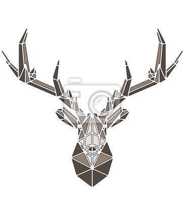 Plakát Beautiful deer geometric triangle shape design