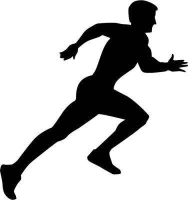 Plakát Běh Sprint Silhouette