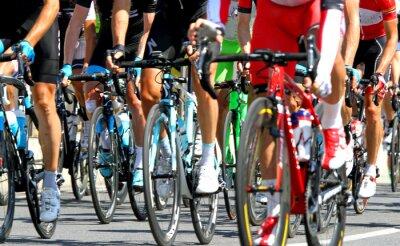 Plakát během cyklu silniční závod v Evropě cyklisté