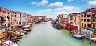 Plakát Benátky - Ponte di Rialto a Grand Canal