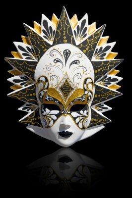 eee50f7aa Benátský karneval masky izolovaných plakáty na zeď • plakáty ...