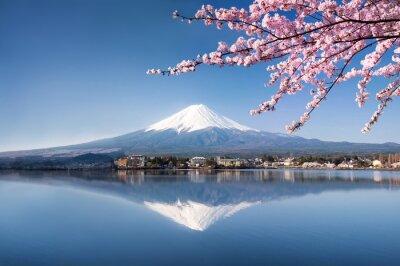 Plakát Berg Fuji Kawaguchiko v Japonsku
