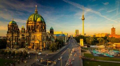 Plakát Berlín - výhled na město