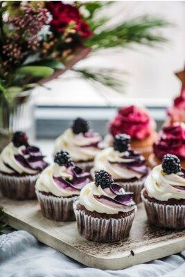 Plakát berry cupcakes