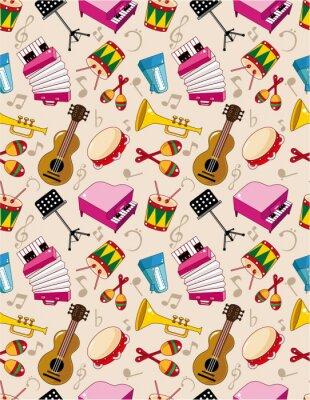 Plakát bezešvé hudební vzor