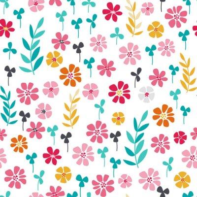Plakát Bezešvé jasný skandinávský květinovým vzorem