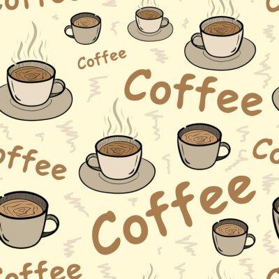 Plakát Bezešvé káva s párou