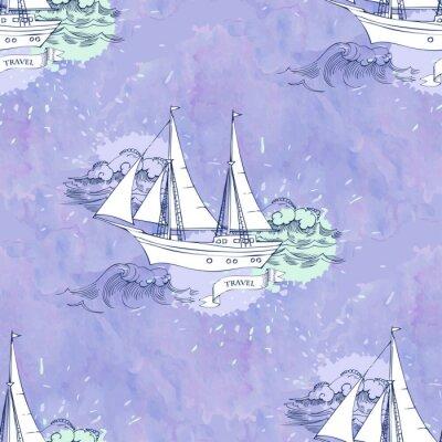 Plakát Bezešvé Patt vlny lodě