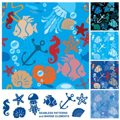 Plakát Bezešvé pozadí s mořského života