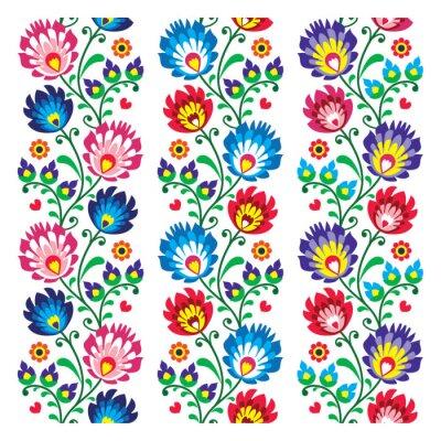 Plakát Bezešvé tradiční lidová nehty vzor - bezešvé vyšívání