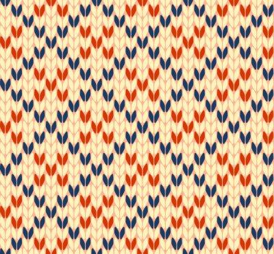 Plakát Bezešvé vektoru vzor pletení