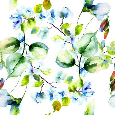 Plakát Bezešvé vzor s jarní květiny