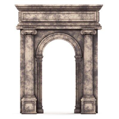 Plakát Béžová Marble Arch Composite izolovaných na bílém