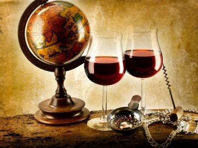 Plakát bicchieri di vino rosso