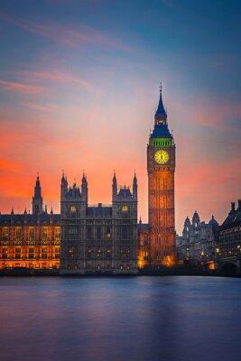 Plakát Big Ben a Houses of Parliament, London