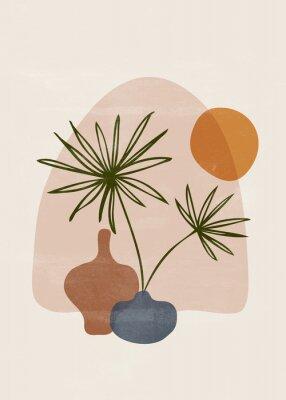 Plakát Botanical vintage print boho sun minimalist wall art