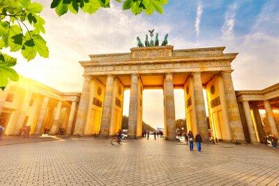 Plakát Brandenburg gate at sunset