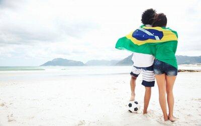 Plakát Brasil fotbaloví fanoušci
