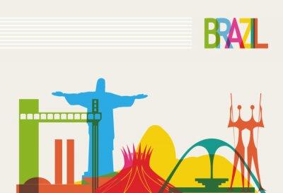 Plakát Brazílie turistika panorama