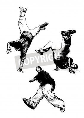 Plakát breakdancer trio
