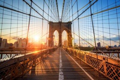 Plakát Brooklyn Bridge v New Yorku