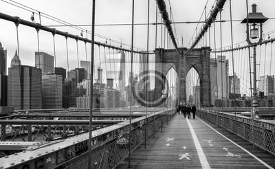 Plakát Brooklyn most v New Yorku, USA.