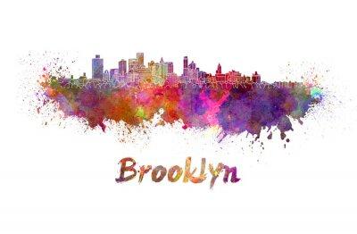 Plakát Brooklyn skyline v akvarel