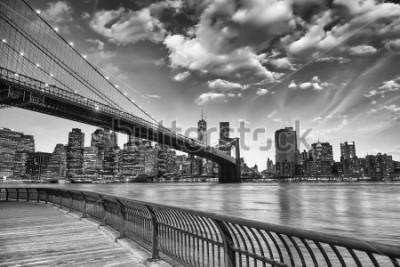 Plakát Brooklynský most v New Yorku.