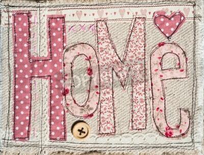 Plakát brož ošumělý chic hometext pozadí dekorace
