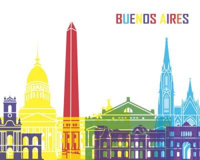 Plakát Buenos Aires skyline pop