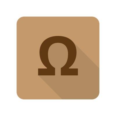 Plakát Byt ikon stylu Omega webové aplikace na světle hnědé pozadí