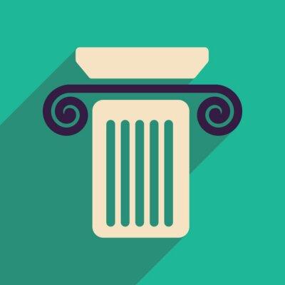 Plakát Byt web ikonu s dlouhou kolonou stínového