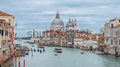 Plakát Canal Grande a bazilika Santa Maria della Salute, Benátky, Itálie