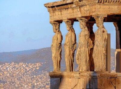 Plakát Caryatides, Akropole v Aténách
