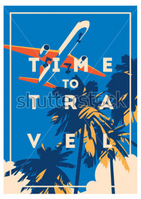 Plakát Čas do cesty a Letní prázdniny plakát.